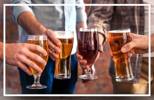 Schürmanns Genusswelten | Vier Gläser mit verschiedenen Biersorten | Bierwelt